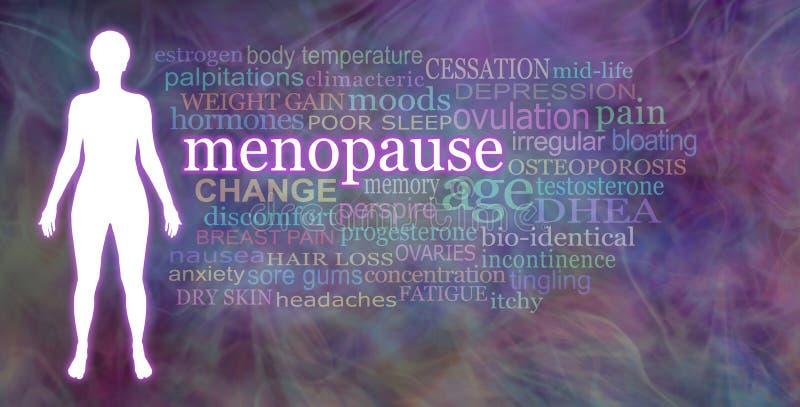 Palavras associadas com a menopausa fotografia de stock