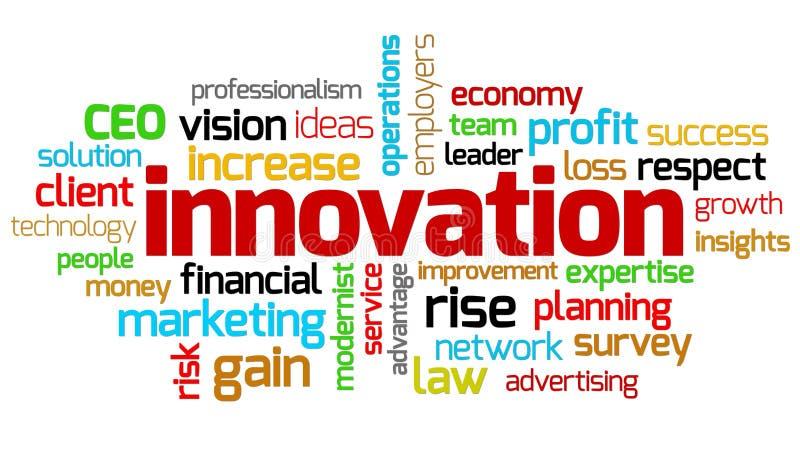 Palavras-chaves da inovação imagem de stock