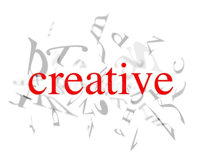Palavras creativas ilustração do vetor