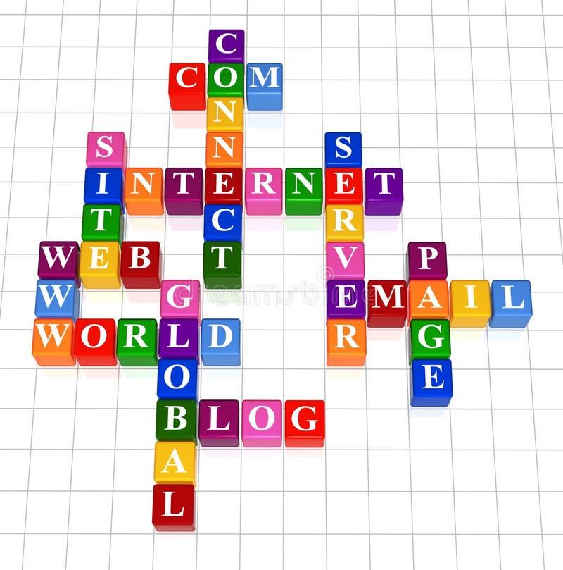 Palavras cruzadas 17 - Internet ilustração royalty free