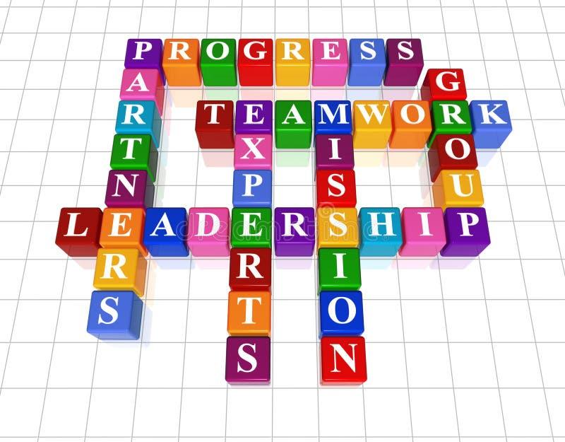 Palavras cruzadas 21 - liderança ilustração do vetor