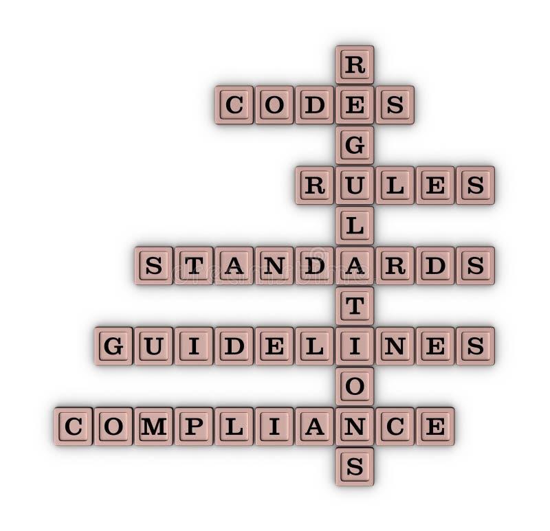 Palavras cruzadas da conformidade ilustração do vetor