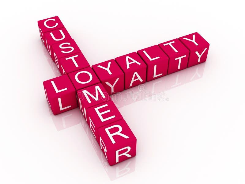Palavras cruzadas da lealdade do cliente ilustração stock
