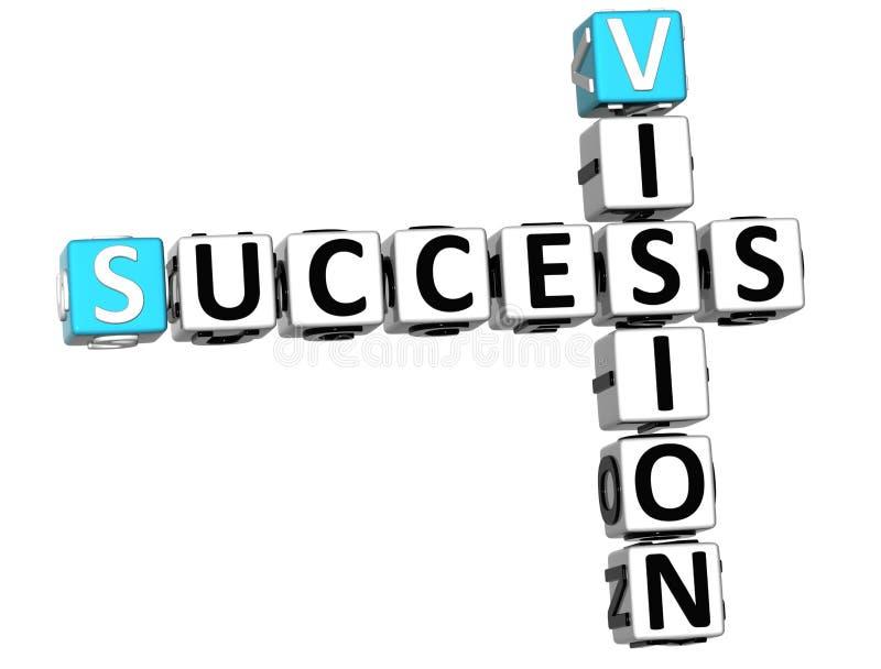 palavras cruzadas da visão do sucesso 3D ilustração do vetor