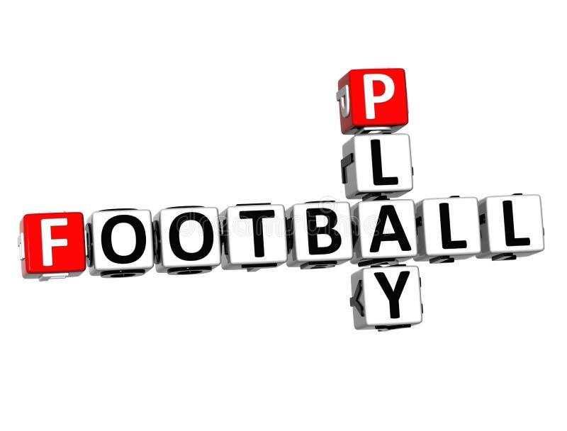 palavras cruzadas do jogo de futebol 3D no fundo branco ilustração stock