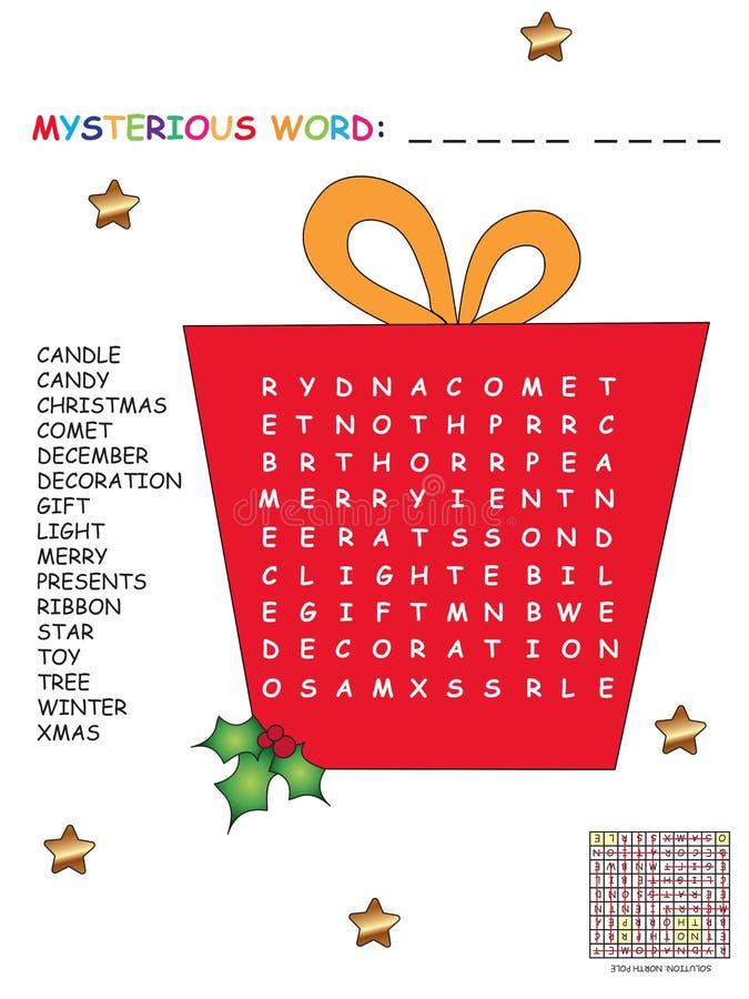Palavras Cruzadas Do Natal Para Crianças Ilustração Stock - Ilustração de decoração, dezembro ...
