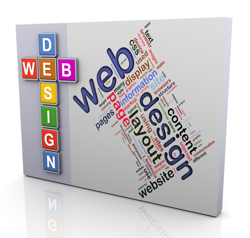 Palavras cruzadas do projeto de Web ilustração do vetor