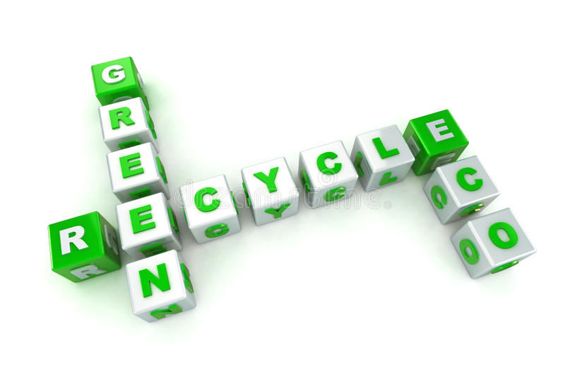 Palavras cruzadas verdes do conceito de Eco ilustração royalty free