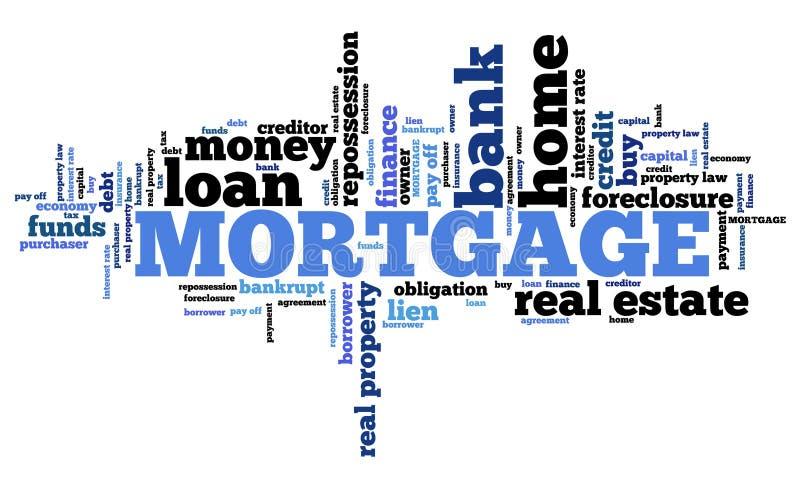 Palavras da hipoteca ilustração royalty free