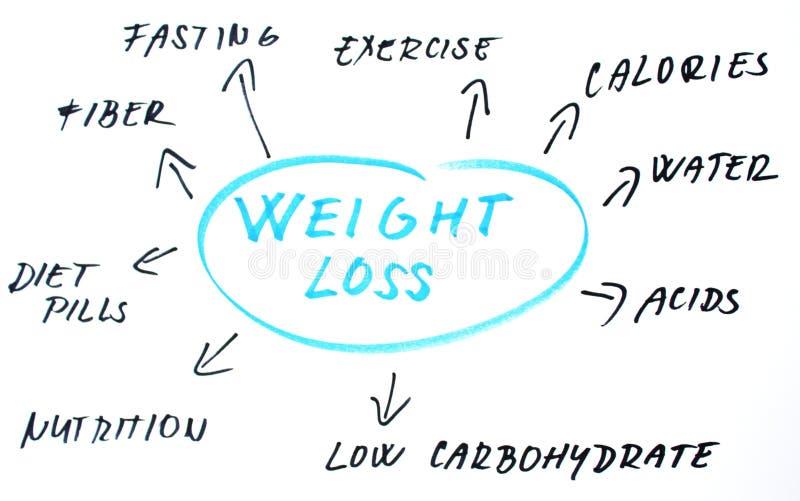 Palavras da perda de peso ilustração stock