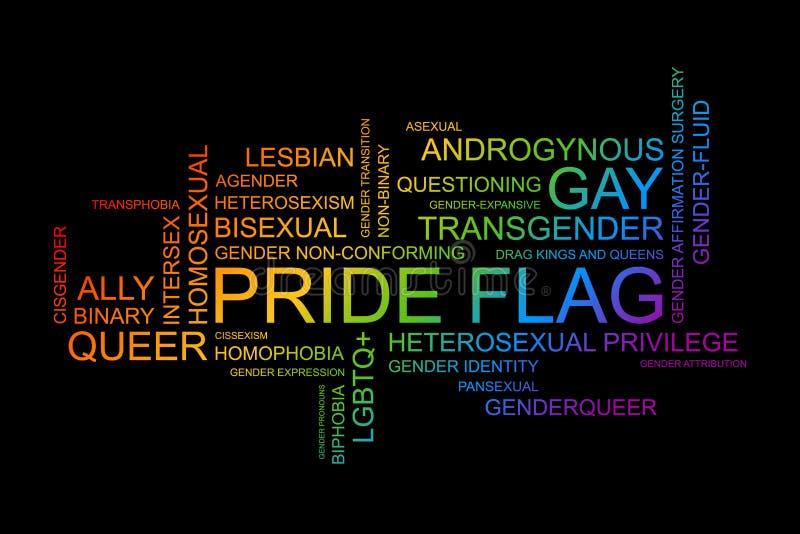 Palavras de LGBT no formato do vetor ilustração do vetor