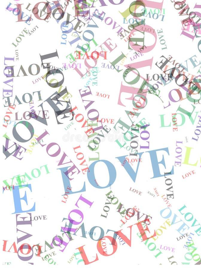 Palavras do amor imagens de stock