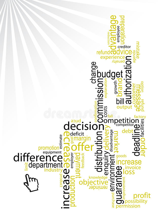 Palavras do negócio/vetor ilustração do vetor
