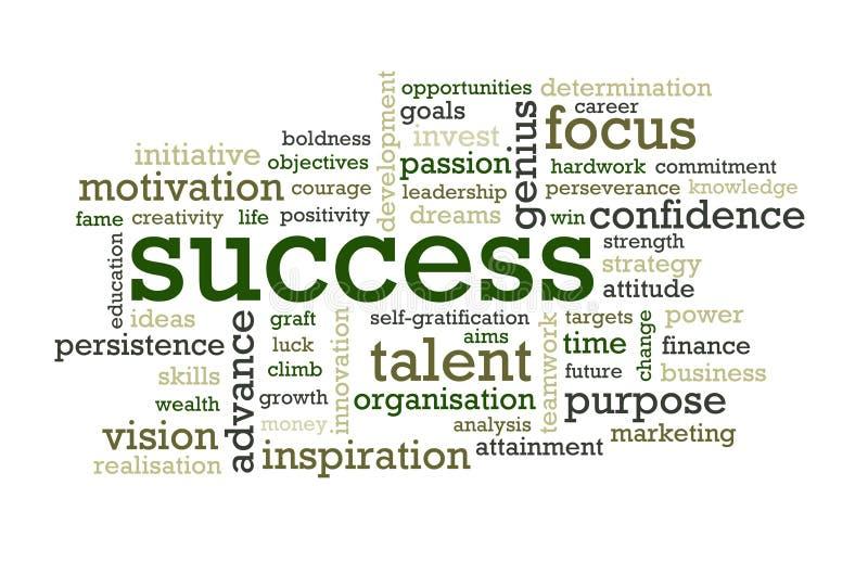 Palavras do sucesso ilustração stock