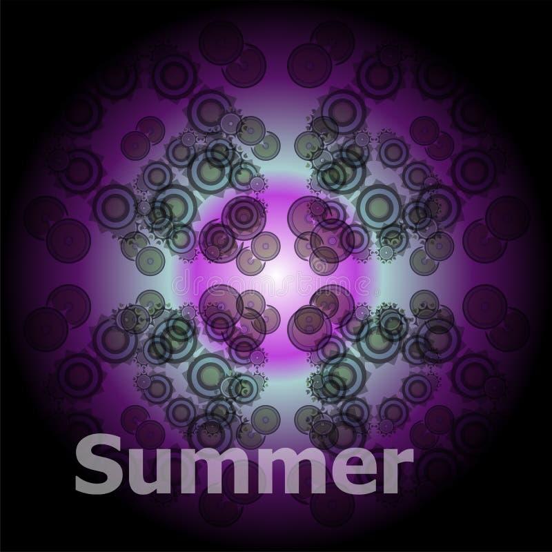 Palavras do verão em fundos abstratos ilustração stock
