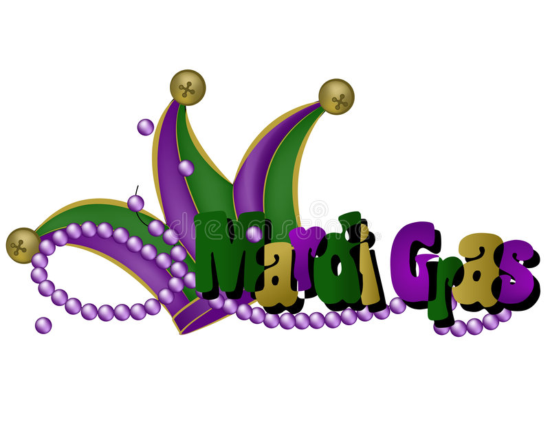 Palavras e chapéu do carnaval