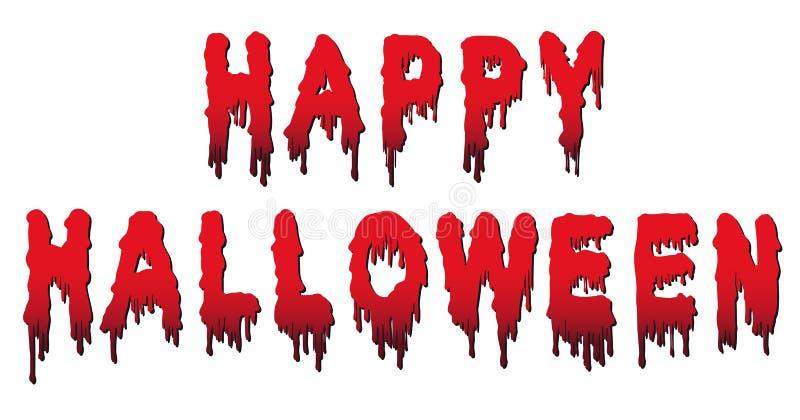 Palavras felizes de Dia das Bruxas - escritas no sangue ilustração stock