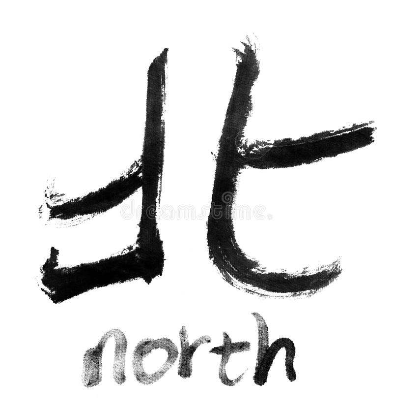 Palavras nortes ilustração royalty free