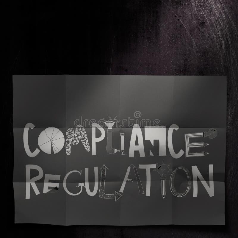 Palavras regulamentares do projeto da conformidade ilustração do vetor