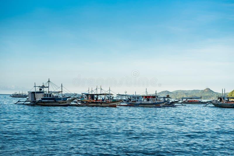 PALAWAN FILIPINY, STYCZEŃ, - 24, 2018: El Nido Seashore w Palawan, Filipiny zdjęcie royalty free