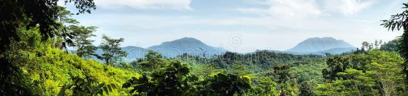 palawan panorama för öliggande arkivfoto