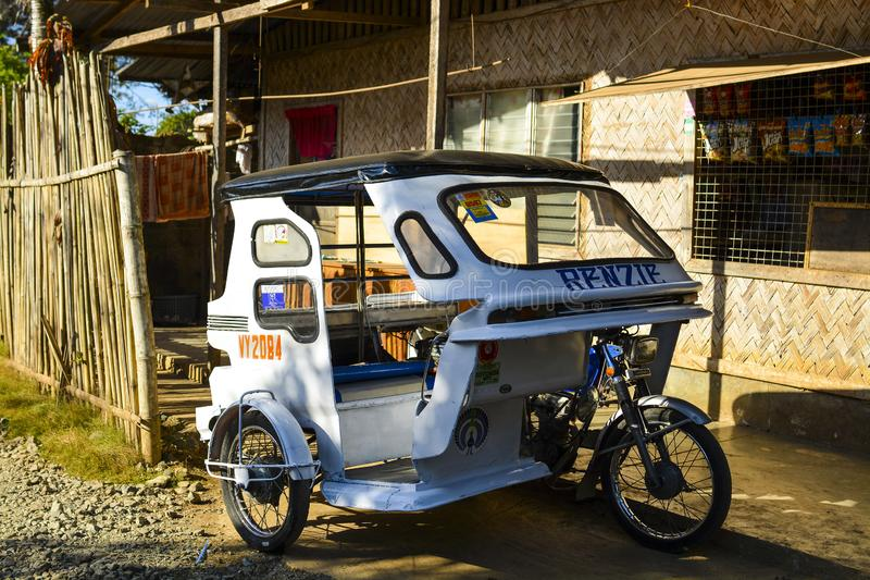 Local transportation at Palawan. It`s an archipelagic province of the Philippines that is located in the region of MIMAROPA stock photo