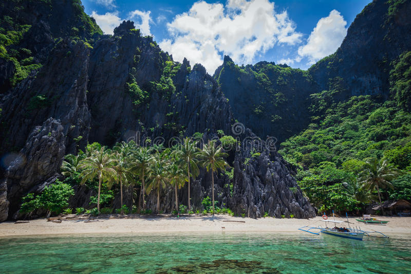 Palawan secret lagoon royalty free stock photos