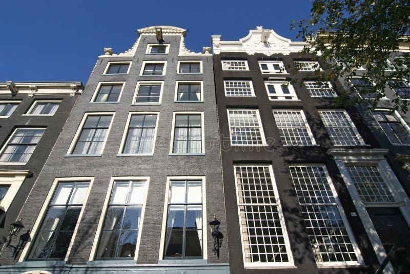 Palazzi di Amsterdam fotografie stock