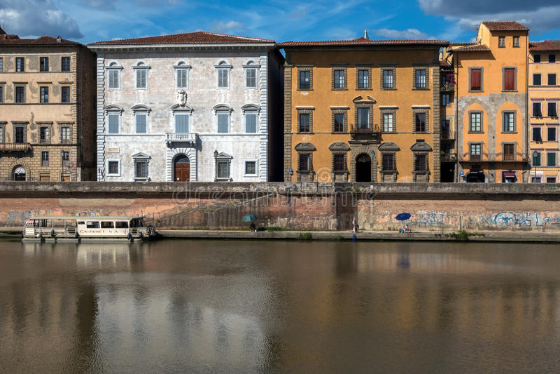 Palazzi Lanfranchi-Toscanelli e Roncioni a Pisa, Italia fotografie stock