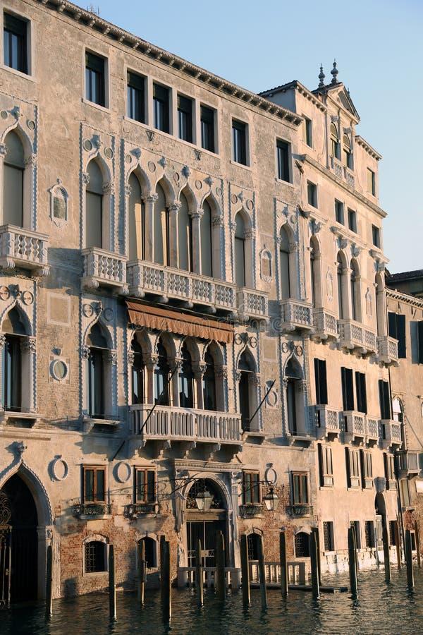 Palazzi veneziani sul canal grande a Venezia Italia immagini stock