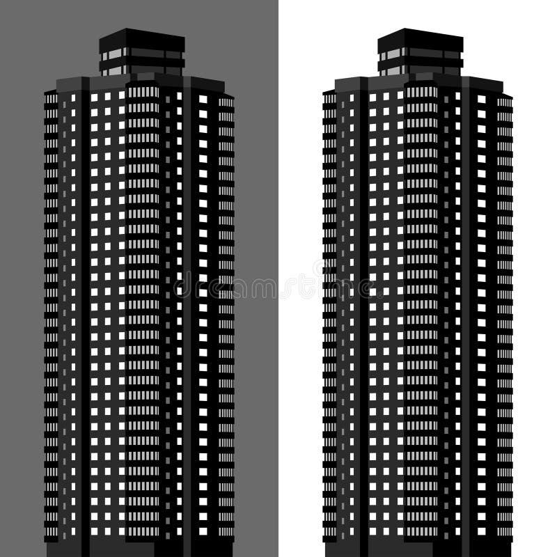 Palazzina di appartamenti illustrazione vettoriale
