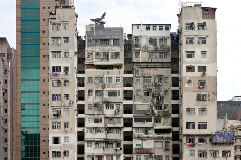 Palazzina di appartamenti di Hong Kong immagine stock
