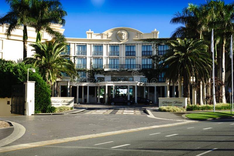 Palazzo凡赛斯旅馆英属黄金海岸 免版税库存图片