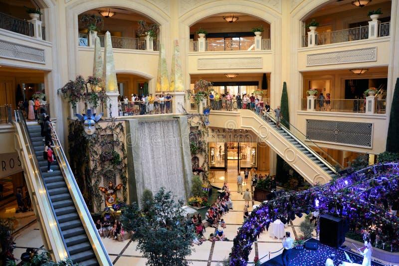 Palazzo旅馆在拉斯维加斯购物 免版税图库摄影