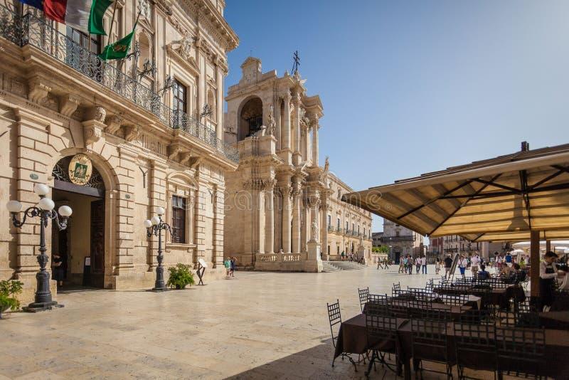 Palazzo贝内文塔诺del博斯科Municipio,意大利宫殿,西西里岛海岛 图库摄影