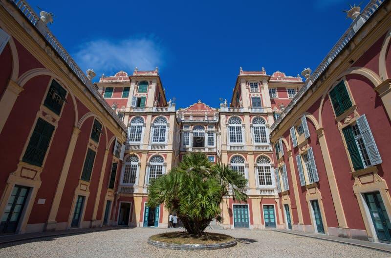 Palazzo Reale在热那亚,意大利,王宫在意大利市热那亚,联合国科教文组织世界遗产名录站点,意大利 免版税库存图片