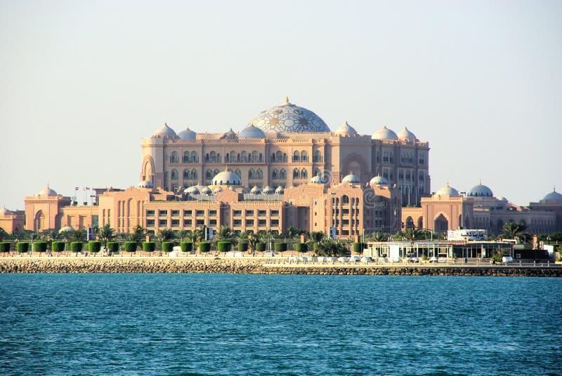 Palazzo Abu Dhabi degli emirati fotografie stock libere da diritti