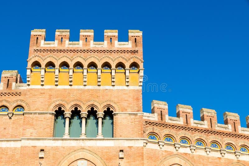 Palazzo Aldobrandeschi in Piazza Dante in Grosseto, Italy. Palazzo Aldobrandeschi Palazzo della Provincia in Grosseto city center, Italy royalty free stock image
