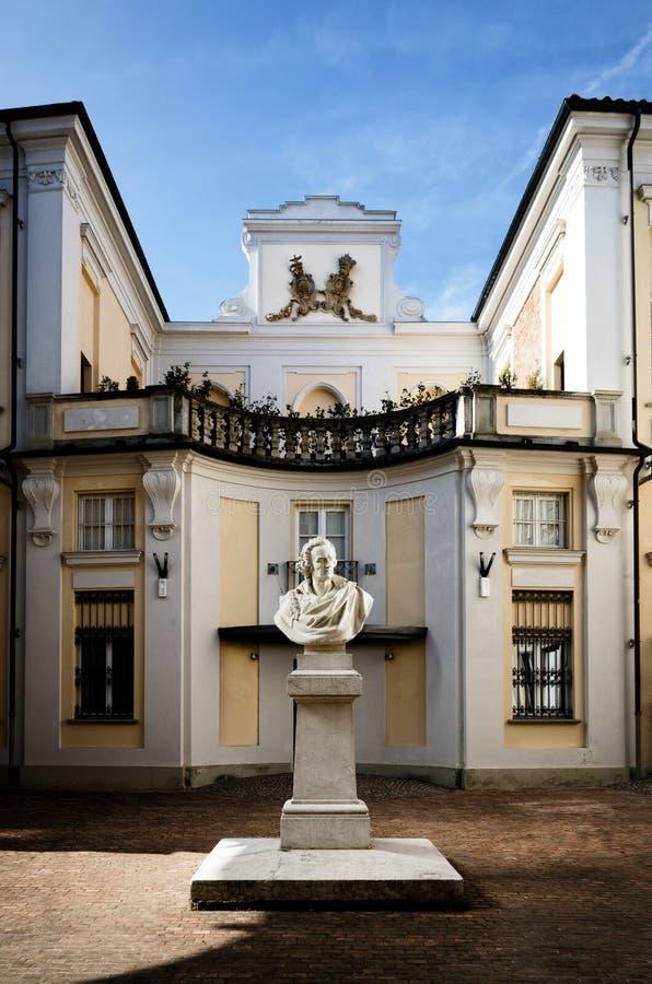Palazzo Alfieri en Asti Italia imagen de archivo