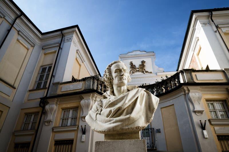 Palazzo Alfieri i Asti Italien royaltyfri fotografi