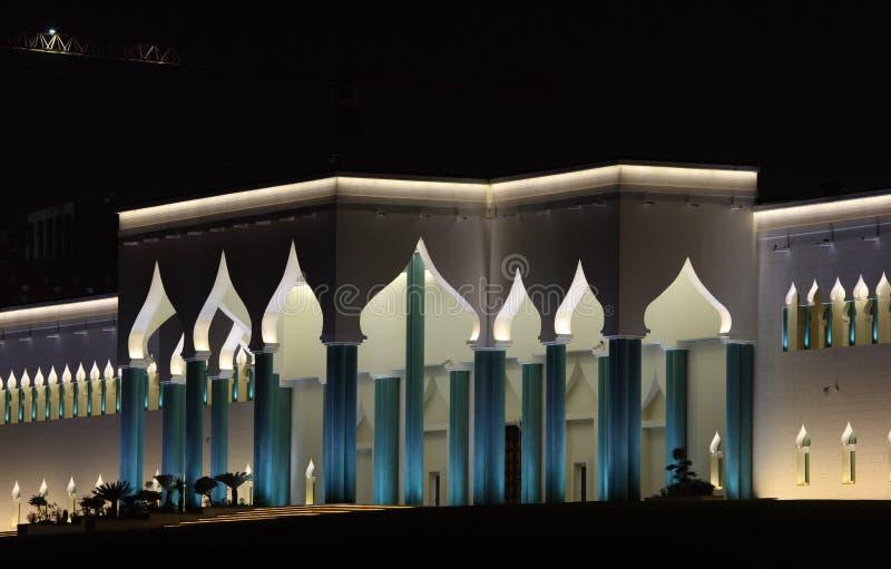 Palazzo Alla Notte, Doha Degli Emiri Immagine Stock