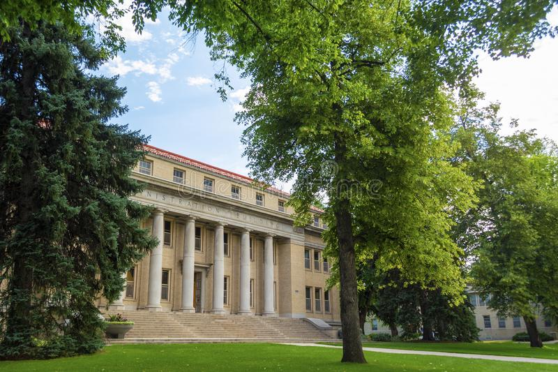 Palazzo amministrativo dell'Università Statale del Colorado a Fort Collins, Colorado fotografia stock