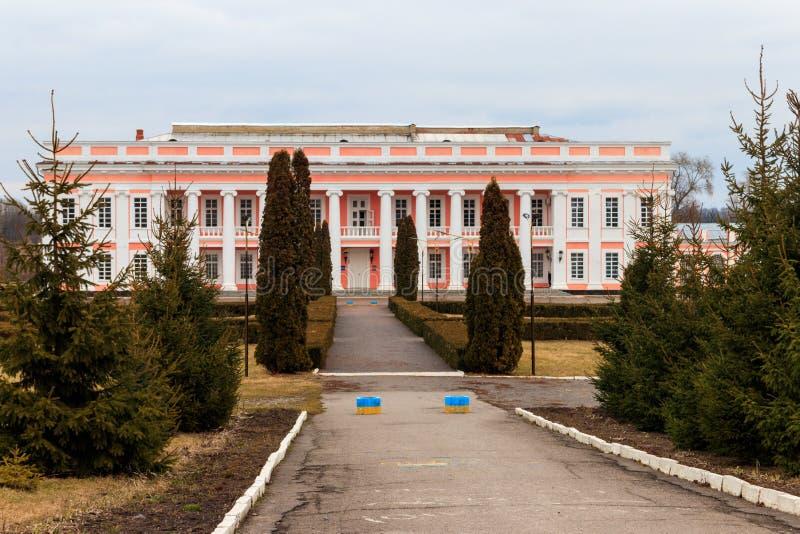 Palazzo antico dei magnati polacchi Potocki in Tulchin, Ucraina fotografia stock libera da diritti