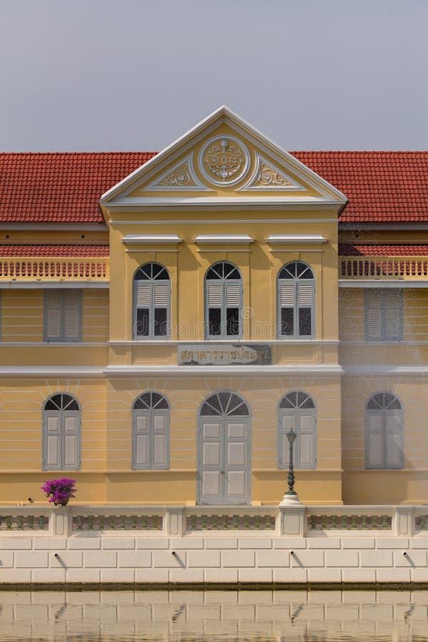 Palazzo antico di Bangpain, Ayutthaya in Tailandia fotografia stock libera da diritti