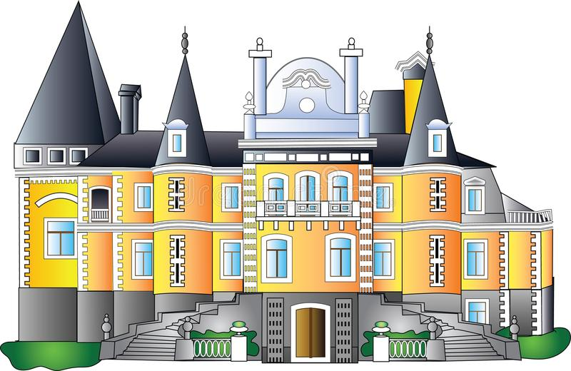 Palazzo barrocco - vettore illustrazione vettoriale