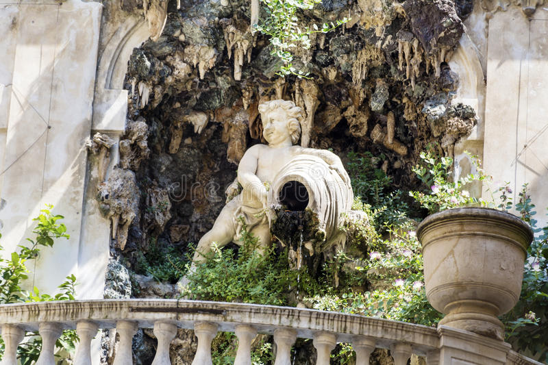 Palazzo Bianco garden , Genoa ,Italy. GENOA,ITALY-22.06.16 : Palazzo Bianco contains the Gallery of the White Palace, one of the greater city art galleries, and stock image