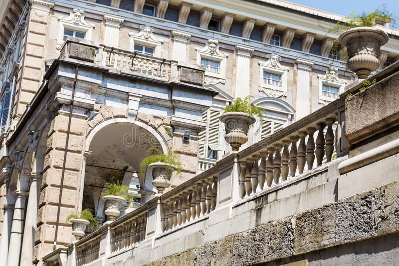 Palazzo Bianco garden in Genoa ,Italy. GENOA,ITALY-22.06.16 : Palazzo Bianco contains the Gallery of the White Palace, one of the greater city art galleries, and stock image