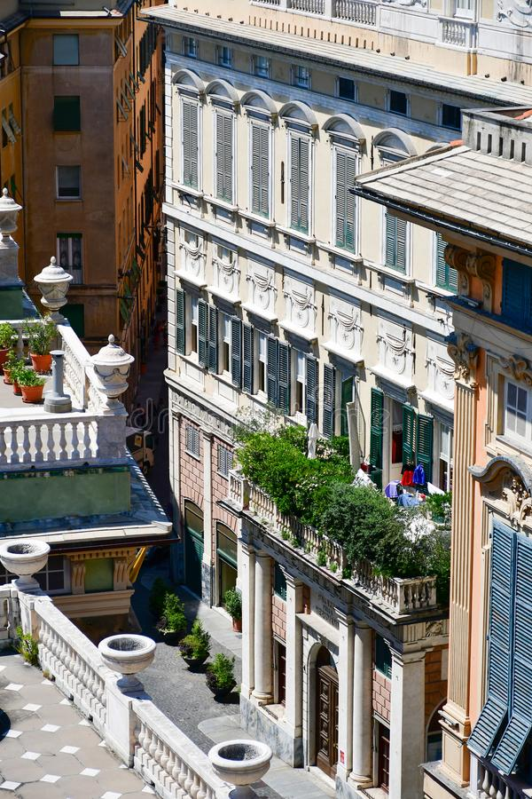 Palazzo Bianco,Genoa , Italy. Palazzo Bianco, is one of the main buildings of the center of Genoa, Italy.In 1899, Maria Brignole Sale, the Duchess of Galliera royalty free stock photos