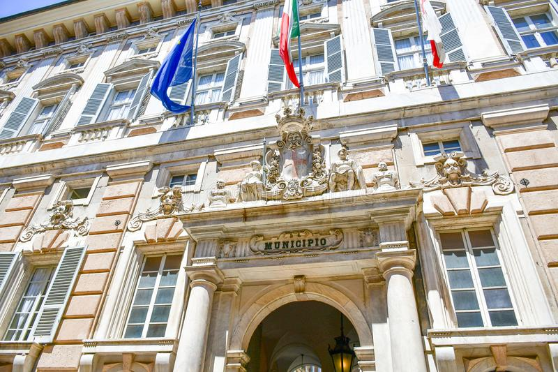 Palazzo Bianco,Genoa , Italy. Palazzo Bianco, is one of the main buildings of the center of Genoa, Italy.In 1899, Maria Brignole Sale, the Duchess of Galliera stock images