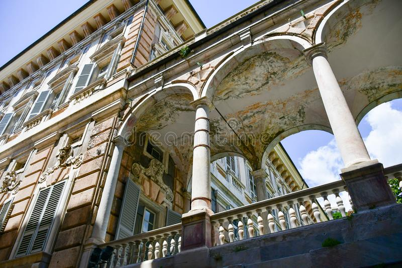 Palazzo Bianco,Genoa , Italy. Palazzo Bianco, is one of the main buildings of the center of Genoa, Italy.In 1899, Maria Brignole Sale, the Duchess of Galliera royalty free stock photo